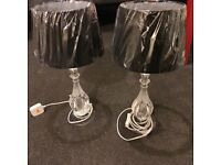 Black lamps. Perfect for living/bedroom