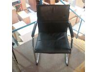Niceday black pvc chair with chrome frame