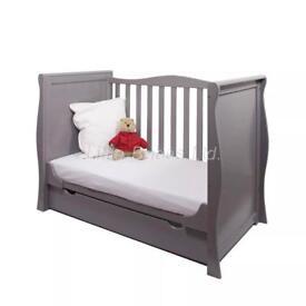 Infant cot bed + underbed drawer + mattress