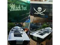 15ft boat with road trailer .new paint job an water tight