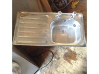Stainless steel Sink and taps ,£25.00
