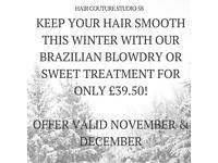 Brazilian Blowdry only £39.50 in November & December!!