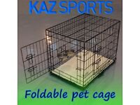 FOLDABLE / FOLD AWAY PET TRAVEL CAGE SUITABLE FOR DOGS, CATS OR OTHER SMALL ANIMALS