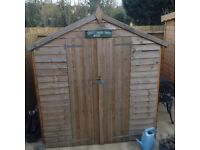 GARDEN SHED 8ft x6ft