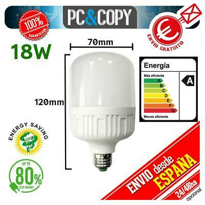 S1096 Bombilla LED E27 B22 18W Luz Blanca 6500K Bajo Consumo Alto...