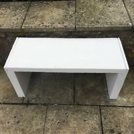 Textured White Outdoor Chic textured Concrete Bench very Durable
