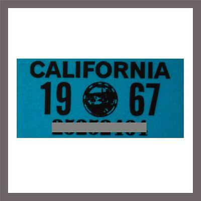 1967 California Yom Dmv Car Truck Trailer Mc License Plate Sticker Tag  1963 67