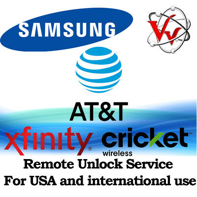 Samsung Galaxy S8 & S8 Plus from ATT, Cricket & Xfinity Remote Unlock Service