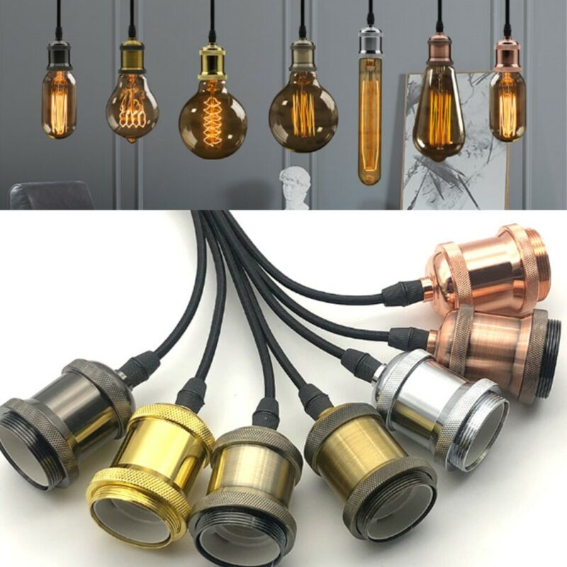 Lampen Fassung E27 Vintage Lampensockel Metall Nostalgie Retro-Leuchtmittel