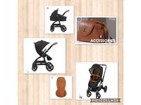 EGG stroller in immaculate condition Black and Tan leather grab a bargain