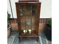 Drinks /display cabinet / mini bar / vintage glass cabinet