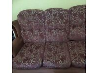 Sofa with 2 armchairs