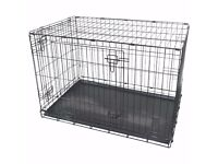 BRAND NEW Dog Cages Large Crates Pet Carrier Transport Training Cage Black