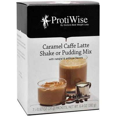 PROTIWISE | Caramel Caffe Latte Shake & Pudding Mix | Low Calorie, Low Fat