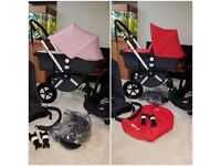 Bugaboo cameleon 2 . 3in1. Soft pink or red