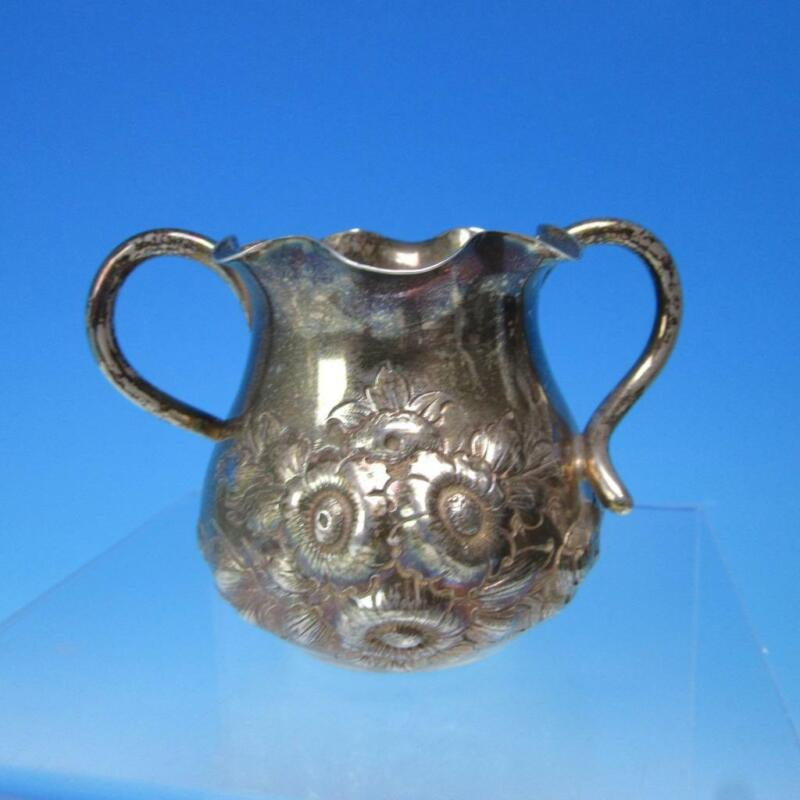Shiebler Sterling Silver - Repousse Flower Two Handled Vase #1433 - 2½ inches