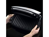 George Foreman 4-Portion Family Grill and Melt with Removable Plates (Silver) WORTH £52