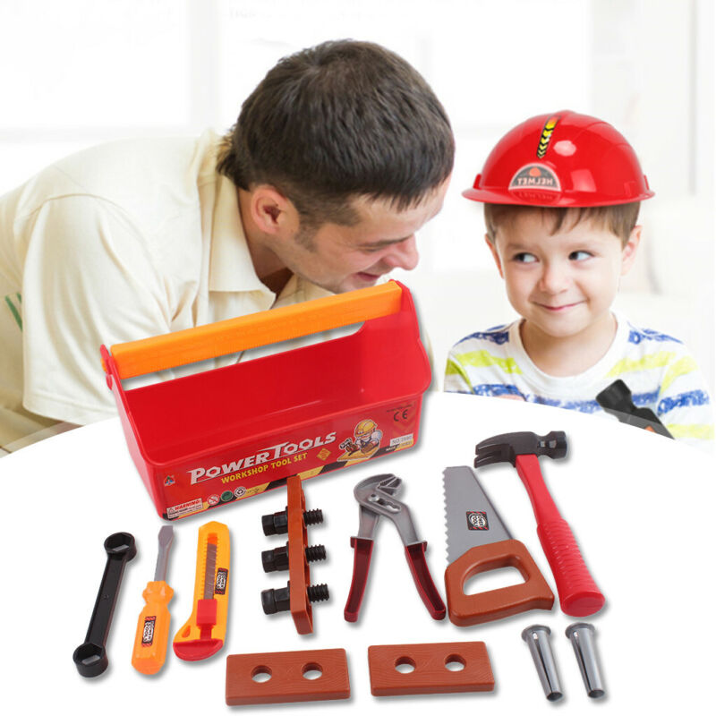 Tool Box Toy for Kids Construction Pretend Play Set Build Re