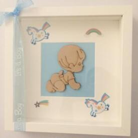 Baby boy frame gift