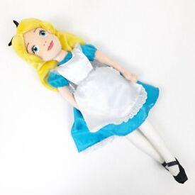 "ALICE IN WORDERLAND: Disney Store 21"" Plush Doll"