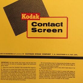 "Kodak contact screen 100 lines per inch 9""x11"""