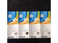 4 x Rio olympics athletics tickets 18/8/16