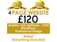Professional Website Design domain+hosting included - Mobile friendly web design