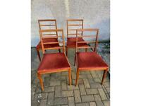 Set of 4 McIntosh 1974 Dining Chairs