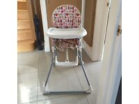 Mama and papas high chair folds for storage