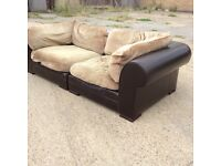 Three seater sofa in 2 sections. Pick up in Angel or Can deliver