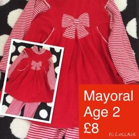 Girls Mayoral 3pc outfit 2y