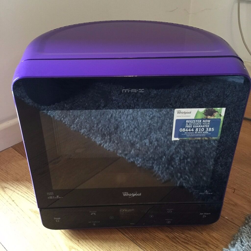 Whirlpool Max 35 Microwave With Steam Function Purple Sold Out Item In