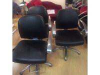 3 hair dressing chairs