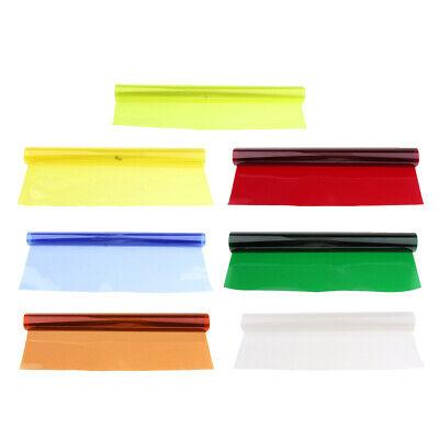 7x Quadratisches, Vollfarbiges Balance Gel Filter Kit Für Blitzlicht Gel Filter Kit