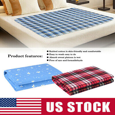 Washable Waterproof Underpads Bed Pad Seat Reusable Sheets Incontinence Hospital Incontinence Bed Sheets