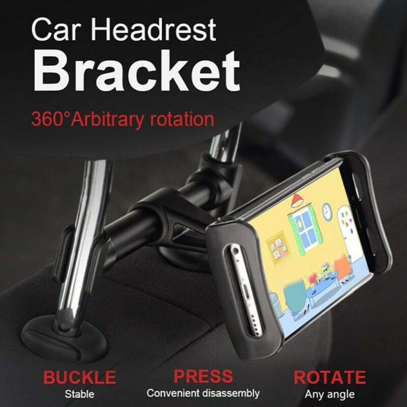 360 Rotating Stand Headrest Holder Car Backseat Tablet Rear Pillow For Phone