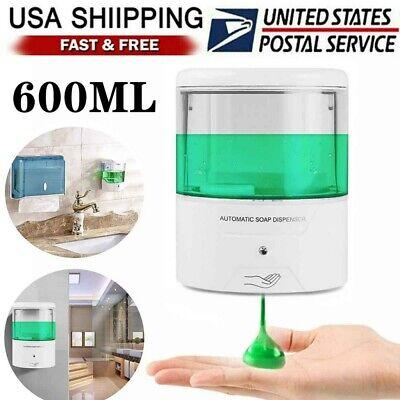 600ml Auto Soap Dispenser Handsfree Liquid Shower Hand Wash Ir Sensor Wall Mount