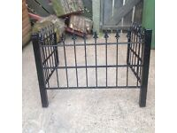 Solid steel grave surround