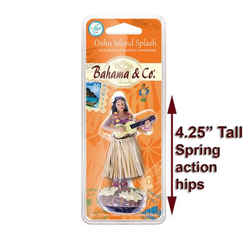New Dashboard Hawaaii Hula Doll Girl 4 Gift/Souvenir Pkg Mini Dancer Grass Skirt