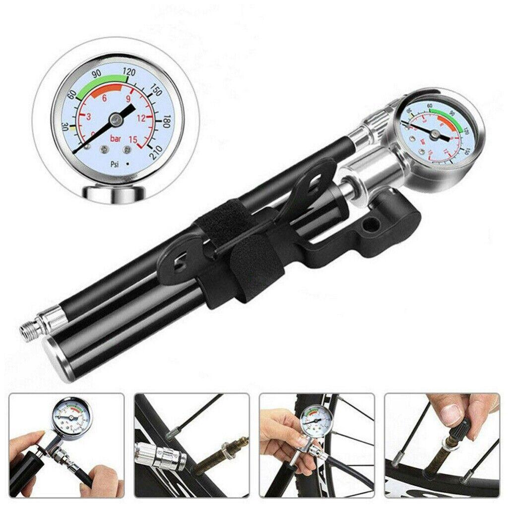 MTB High Pressure Bike Compact Suspension Fork /& Rear Shock Pump Set Tool