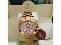 New mens bagged & boxed all gold white face rolex daytona