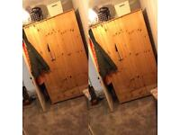 2 Double & 1/2 wooden wardrobes