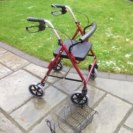 NEARLY NEW ROLLATOR (REDUCED IN PRICE)