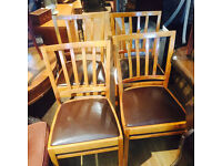 4 x Oak Framed Chairs , in good condition. Great shape .