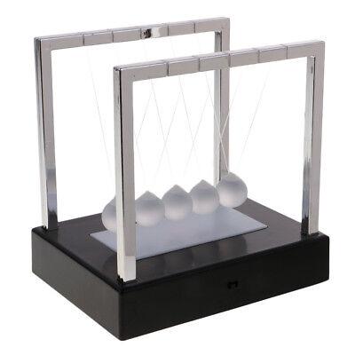 Led Light Up Newtons Cradle Balance Balls Home Science Toy Desk Decor Black