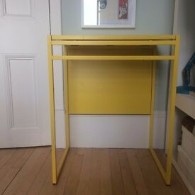 Yellow Study Desk Drop leaf table
