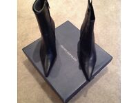 Pedro Mirrales ladies black heeled designer boots