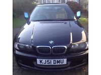 bmw 325ci, M Sport bodystyling/trim, one owner from new, all electric seats/heated, folding mirror