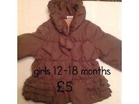 12-18 months baby girl coat