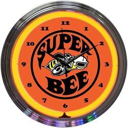 Super Bee Play Room Neon Clock 15x15